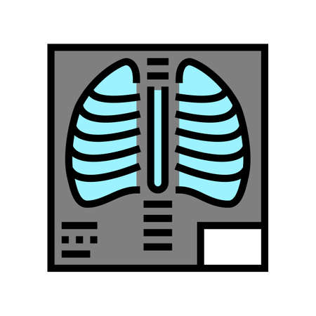 x-ray radiology color icon vector. x-ray radiology sign. isolated symbol illustration