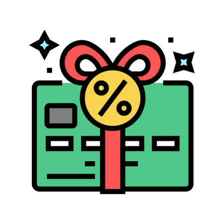 bonus card color icon vector. bonus card sign. isolated symbol illustration