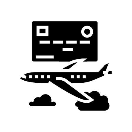 traveling card glyph icon vector. traveling card sign. isolated contour symbol black illustration