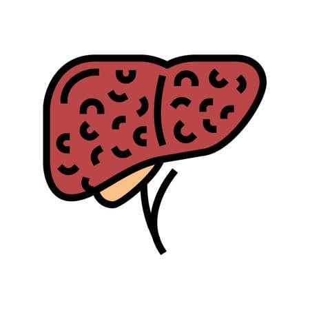 liver cirrhosis disease color icon vector. liver cirrhosis disease sign. isolated symbol illustration