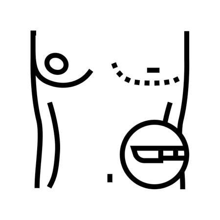 gynecomastia disease line icon vector. gynecomastia disease sign. isolated contour symbol black illustration