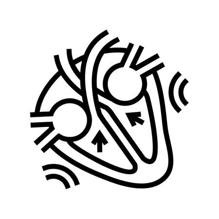 systole disease line icon vector. systole disease sign. isolated contour symbol black illustration