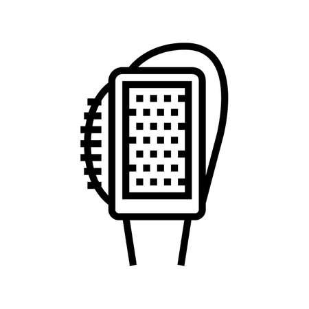 multifunctional brush shoe care line icon vector. multifunctional brush shoe care sign. isolated contour symbol black illustration