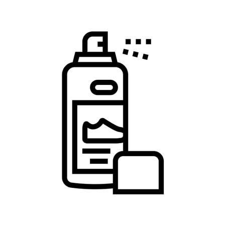 paint sprayer shoe care line icon vector. paint sprayer shoe care sign. isolated contour symbol black illustration