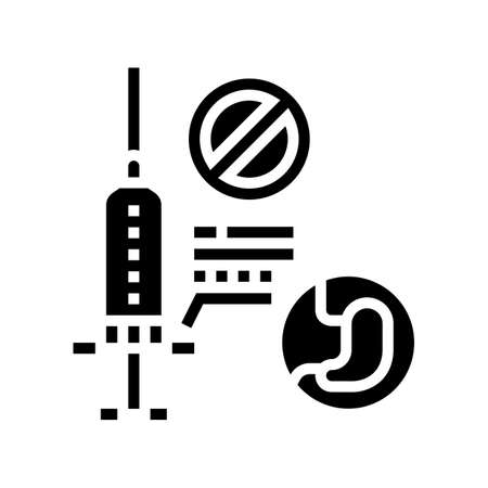 adverse reaction to anesthesia line icon vector. adverse reaction to anesthesia sign. isolated contour symbol black illustration