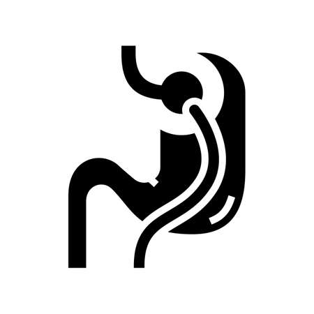 lacing bariatric line icon vector. lacing bariatric sign. isolated contour symbol black illustration