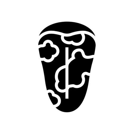 glossitis disease line icon vector. glossitis disease sign. isolated contour symbol black illustration