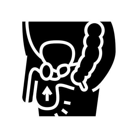 cryptorchidism disease line icon vector. cryptorchidism disease sign. isolated contour symbol black illustration