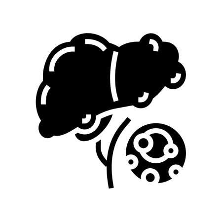 fatty liver dystrophy disease line icon vector. fatty liver dystrophy disease sign. isolated contour symbol black illustration