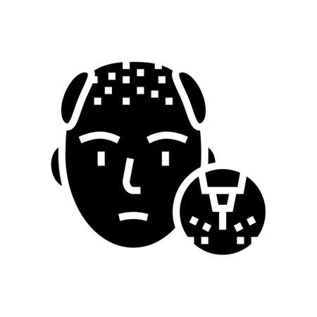 baldness disease line icon vector. baldness disease sign. isolated contour symbol black illustration