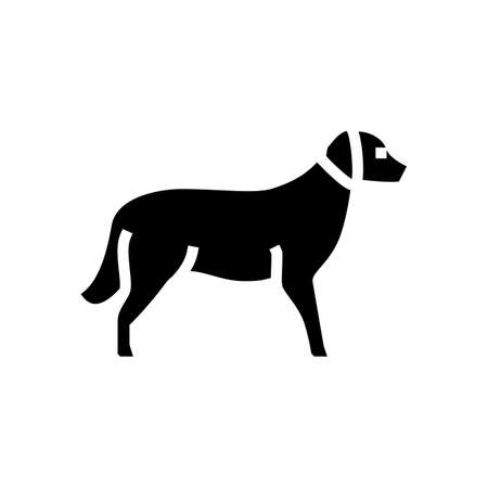 golden retriever dog line icon vector. golden retriever dog sign. isolated contour symbol black illustration