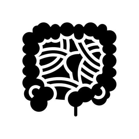 intestinal obstruction disease line icon vector. intestinal obstruction disease sign. isolated contour symbol black illustration Vektorové ilustrace