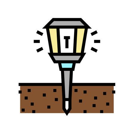 sonic repeller gardening color icon vector. sonic repeller gardening sign. isolated symbol illustration