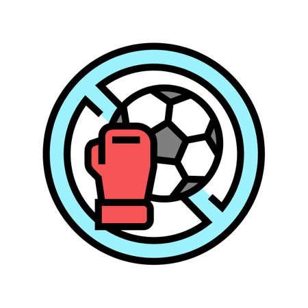 contraindicated sport exercises color icon vector. contraindicated sport exercises sign. isolated symbol illustration Vektoros illusztráció