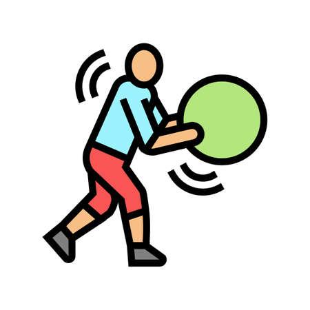 exercises for prevention scoliosis color icon vector. exercises for prevention scoliosis sign. isolated symbol illustration Vektoros illusztráció