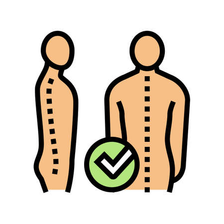 correct posture color icon vector. correct posture sign. isolated symbol illustration