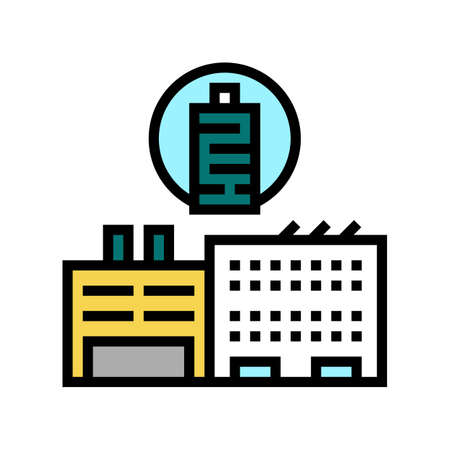 factory production textile color icon vector. factory production textile sign. isolated symbol illustration