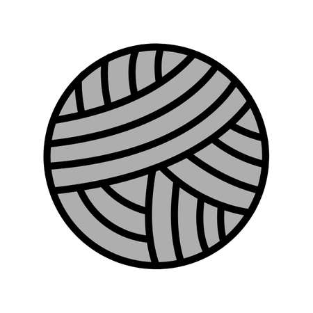 knitting ball textile color icon vector. knitting ball textile sign. isolated symbol illustration
