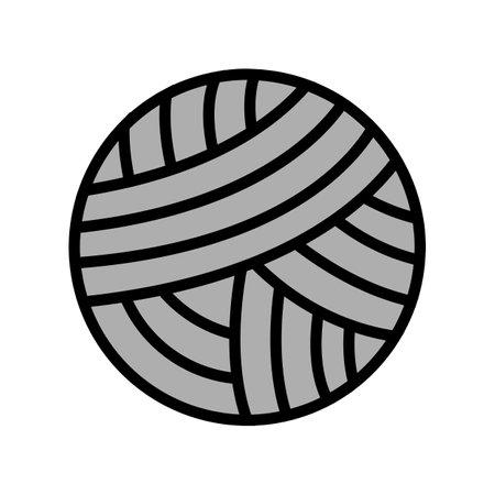 knitting ball textile color icon vector. knitting ball textile sign. isolated symbol illustration Vektoros illusztráció