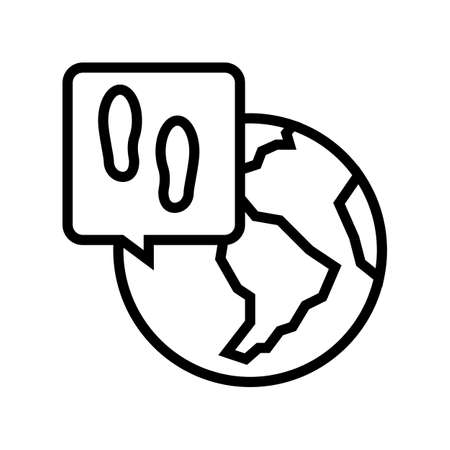 worldwide refugee line icon vector. worldwide refugee sign. isolated contour symbol black illustration