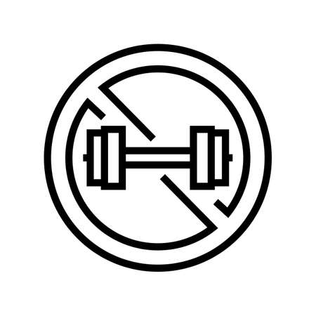 contraindicated load line icon vector. contraindicated load sign. isolated contour symbol black illustration