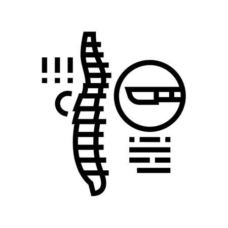 surgery scoliosis line icon vector. surgery scoliosis sign. isolated contour symbol black illustration