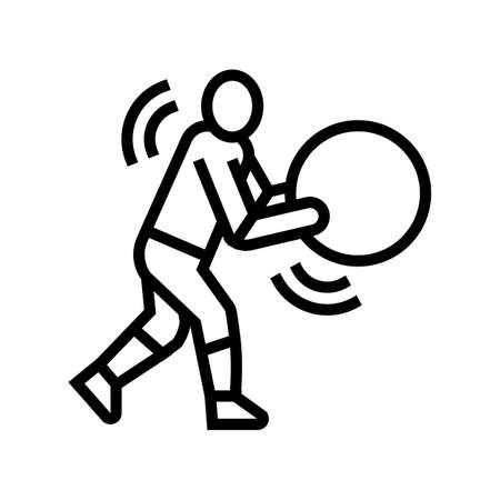 exercises for prevention scoliosis line icon vector. exercises for prevention scoliosis sign. isolated contour symbol black illustration Vektoros illusztráció