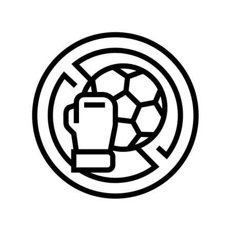 contraindicated sport exercises line icon vector. contraindicated sport exercises sign. isolated contour symbol black illustration