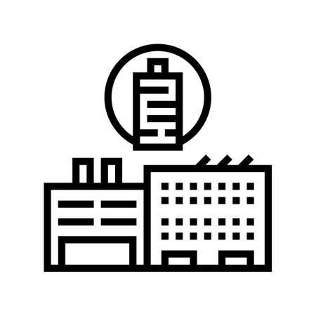 factory production textile line icon vector. factory production textile sign. isolated contour symbol black illustration