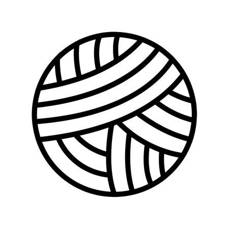 knitting ball textile line icon vector. knitting ball textile sign. isolated contour symbol black illustration