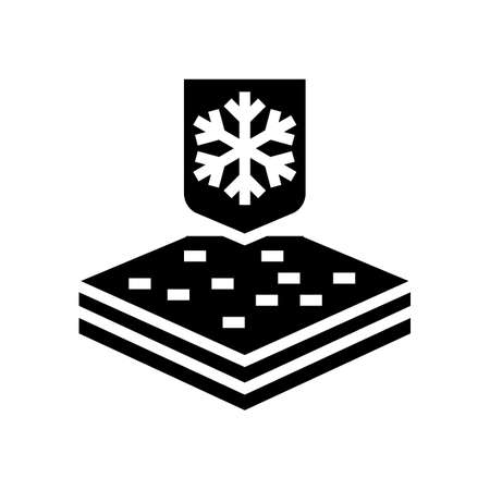 winter fabrics properties glyph icon vector. winter fabrics properties sign. isolated contour symbol black illustration