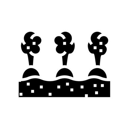 harvest gardening glyph icon vector. harvest gardening sign. isolated contour symbol black illustration