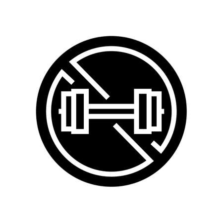 contraindicated load glyph icon vector. contraindicated load sign. isolated contour symbol black illustration