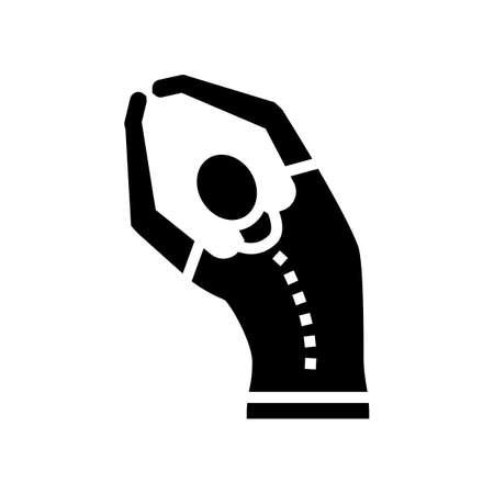 stretching scoliosis glyph icon vector. stretching scoliosis sign. isolated contour symbol black illustration Vektoros illusztráció
