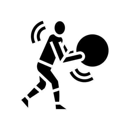 exercises for prevention scoliosis glyph icon vector. exercises for prevention scoliosis sign. isolated contour symbol black illustration Vektoros illusztráció