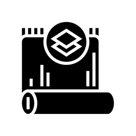 silk textile glyph icon vector. silk textile sign. isolated contour symbol black illustration