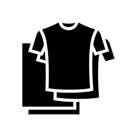 t-shirt textile clothing glyph icon vector. t-shirt textile clothing sign. isolated contour symbol black illustration