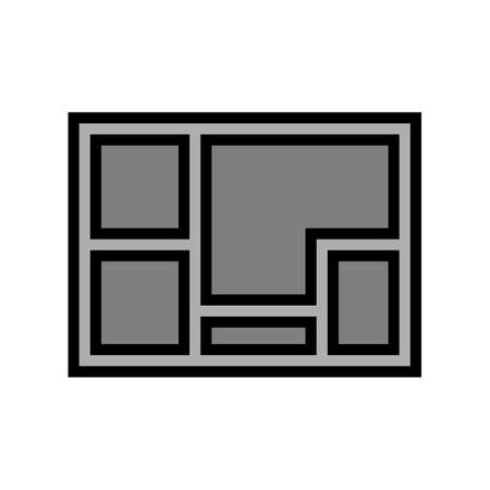 foundation concrete color icon vector. foundation concrete sign. isolated symbol illustration