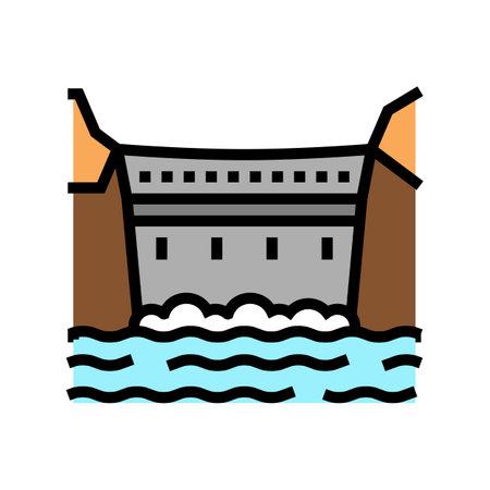 dam concrete color icon vector. dam concrete sign. isolated symbol illustration
