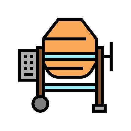 concrete production mixer color icon vector. concrete production mixer sign. isolated symbol illustration