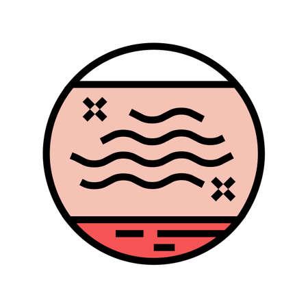 dry skin color icon vector. dry skin sign. isolated symbol illustration Ilustracje wektorowe