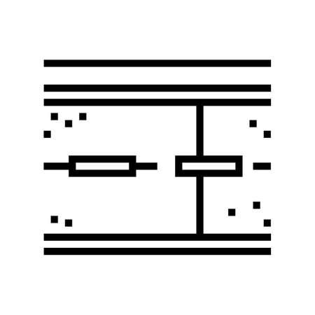 road concrete line icon vector. road concrete sign. isolated contour symbol black illustration
