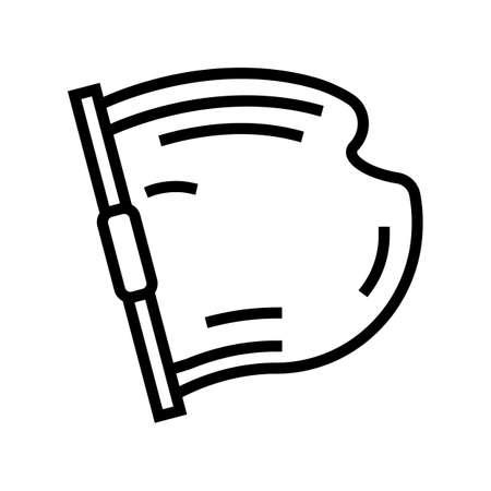 concrete building material line icon vector. concrete building material sign. isolated contour symbol black illustration