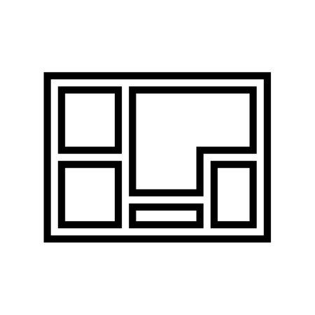 foundation concrete line icon vector. foundation concrete sign. isolated contour symbol black illustration
