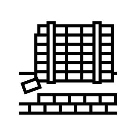 paving slabs concrete line icon vector. paving slabs concrete sign. isolated contour symbol black illustration