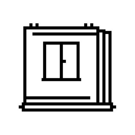 walls of panel house line icon vector. walls of panel house sign. isolated contour symbol black illustration