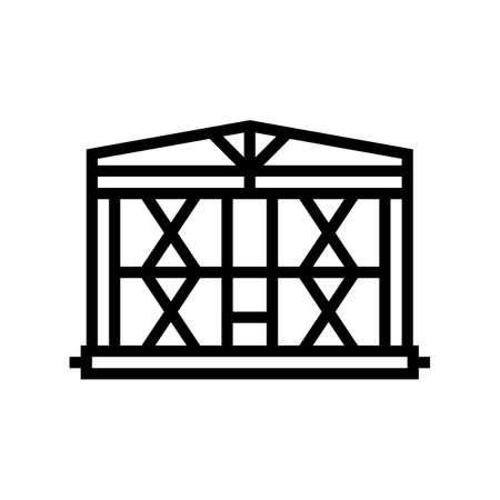 production facility concrete line icon vector. production facility concrete sign. isolated contour symbol black illustration