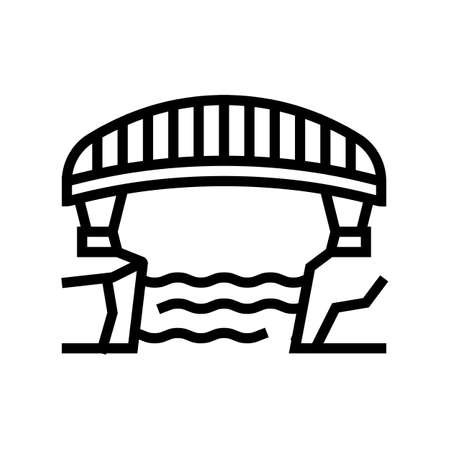 bridge concrete line icon vector. bridge concrete sign. isolated contour symbol black illustration