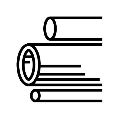 water pipes concrete line icon vector. water pipes concrete sign. isolated contour symbol black illustration