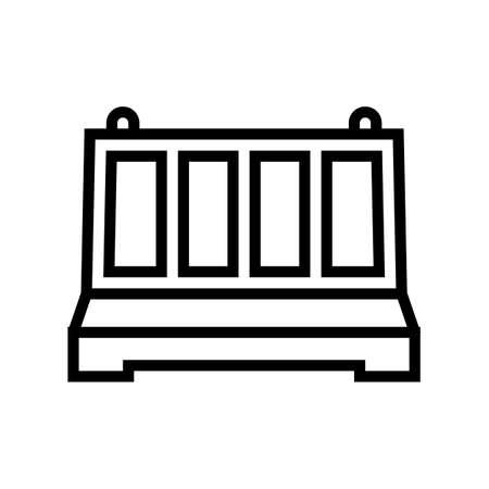 fence concrete line icon vector. fence concrete sign. isolated contour symbol black illustration